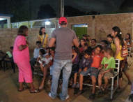 Brenda Buxton teaching children in one of the churches.