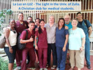 Met with the Christian student group La Luz en LUZ - The Light in the University of Zulia. These are all medical students.