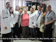 We got to visit the doctors & patients in a major hospital in Maracaibo thanks to our doctor friend Rey.