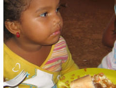 One of the children in the feeding program at Mustard Seed Foundation. They feed the neighborhood children every Sunday in this poor barrio.