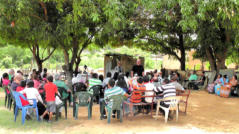 Pastors & Leaders from the indigenous Wayuu churches came for training under the mango tree in Santa Cruz de Mara.