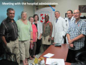 We were priviledged to meet with the hospital administrator who received us warmly.