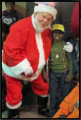 Santa Claus comes to the Food Pantry! (2012)