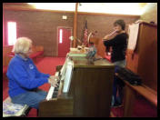 We often had live entertainment at Haven Chapel thanks to talented volunteers.