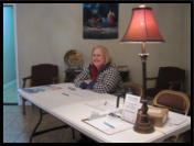 One of our wonderful volunteers is ready to check people in at Life Baptist.